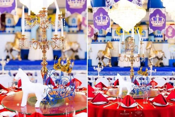 Royal Party Tables from a Royal Prince Birthday Party on Kara's Party Ideas | KarasPartyIdeas.com (12)