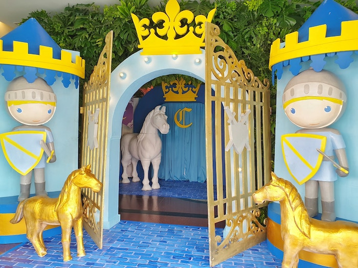 Guarded Castle Gate Party Entrance from a Royal Prince Birthday Party on Kara's Party Ideas | KarasPartyIdeas.com (20)