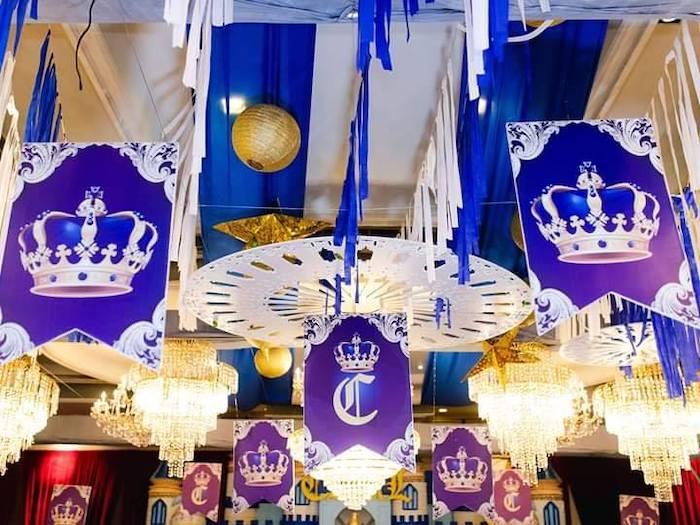 Royal Castle Ceilingscape from a Royal Prince Birthday Party on Kara's Party Ideas | KarasPartyIdeas.com (15)