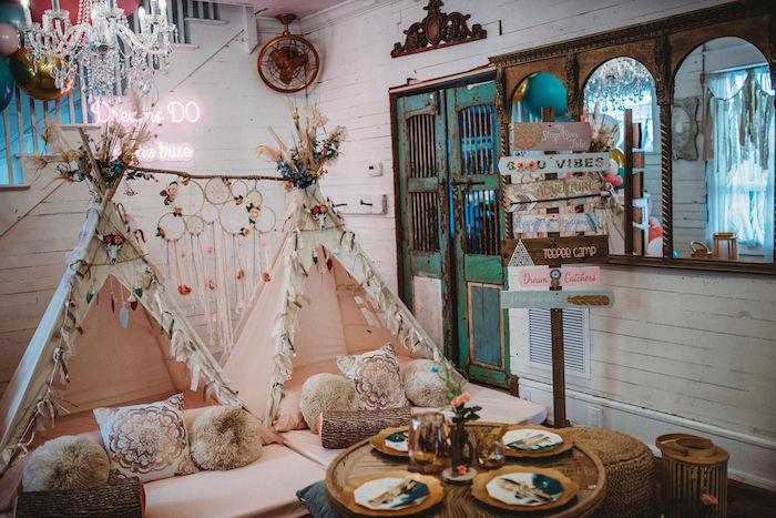 Rustic Boho Sweet 16 Sleepover Party on Kara's Party Ideas | KarasPartyIdeas.com (22)