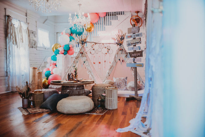 Rustic Boho Sweet 16 Sleepover Party on Kara's Party Ideas | KarasPartyIdeas.com (19)