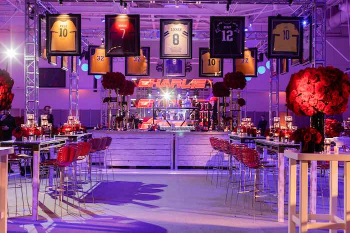 Sports Bar with High Tables from a Sports Themed Bar Mitzvah on Kara's Party Ideas | KarasPartyIdeas.com (12)
