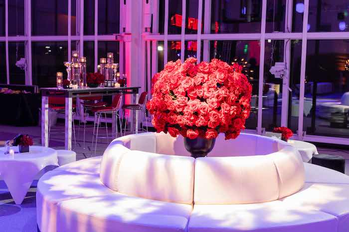 Rose Lounge from a Sports Themed Bar Mitzvah on Kara's Party Ideas | KarasPartyIdeas.com (10)