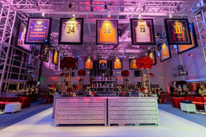 Sports Bar from a Sports Themed Bar Mitzvah on Kara's Party Ideas | KarasPartyIdeas.com (8)