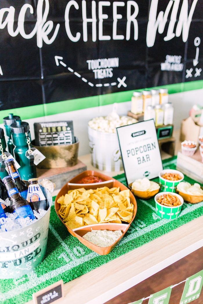 Snack Table from a Super Bowl Football Party on Kara's Party Ideas | KarasPartyIdeas.com (15)