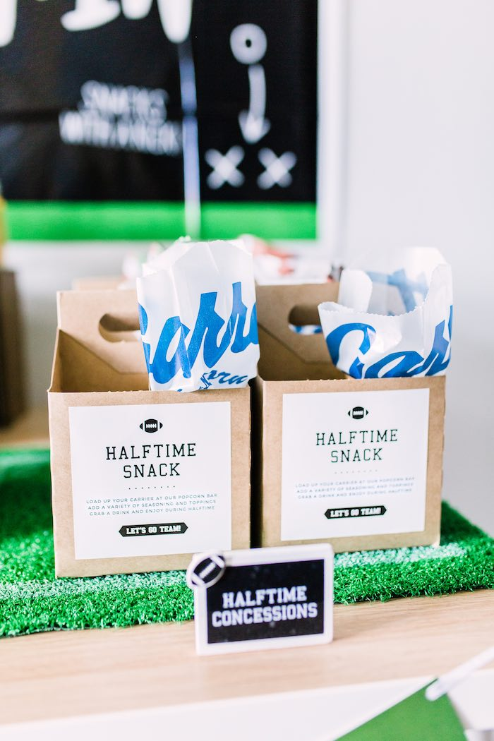 Halftime Snack Box from a Super Bowl Football Party on Kara's Party Ideas | KarasPartyIdeas.com (13)