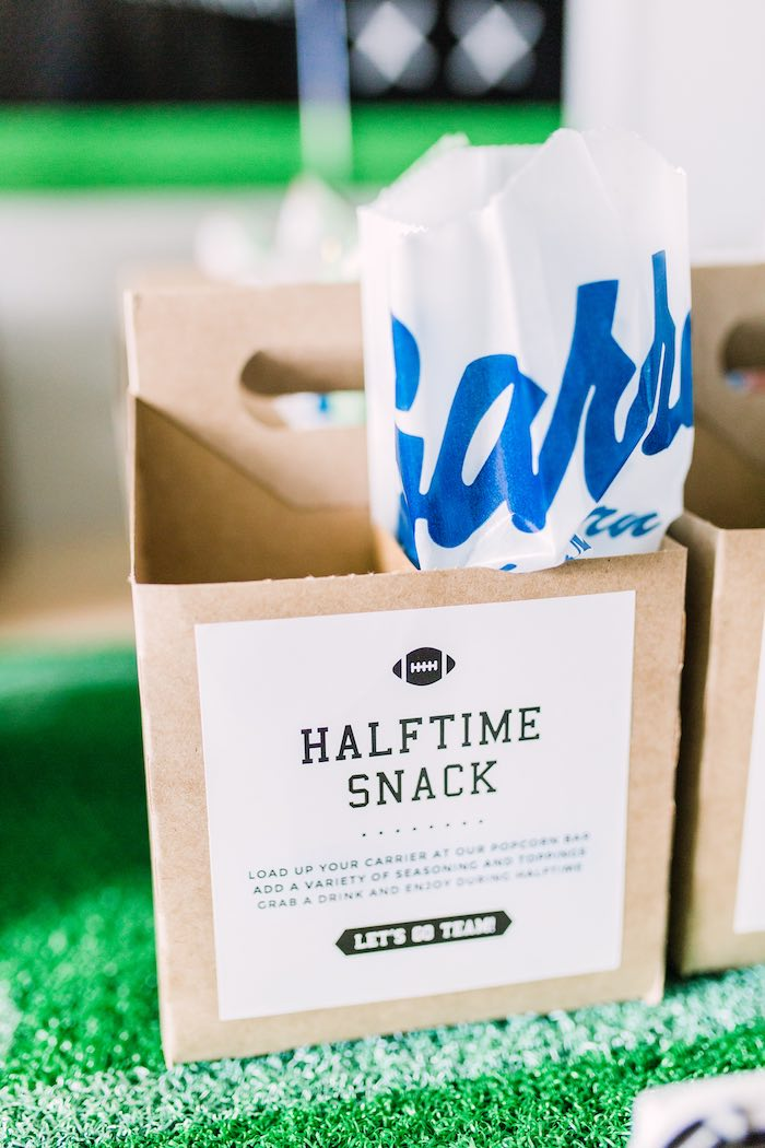 Halftime Snack Box from a Super Bowl Football Party on Kara's Party Ideas | KarasPartyIdeas.com (12)