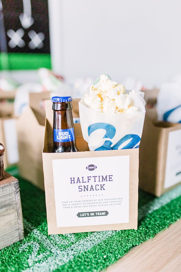 Halftime Snack Box from a Super Bowl Football Party on Kara's Party Ideas | KarasPartyIdeas.com (10)