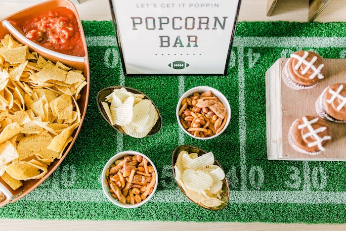 Chips and Pretzels from a Super Bowl Football Party on Kara's Party Ideas | KarasPartyIdeas.com (4)