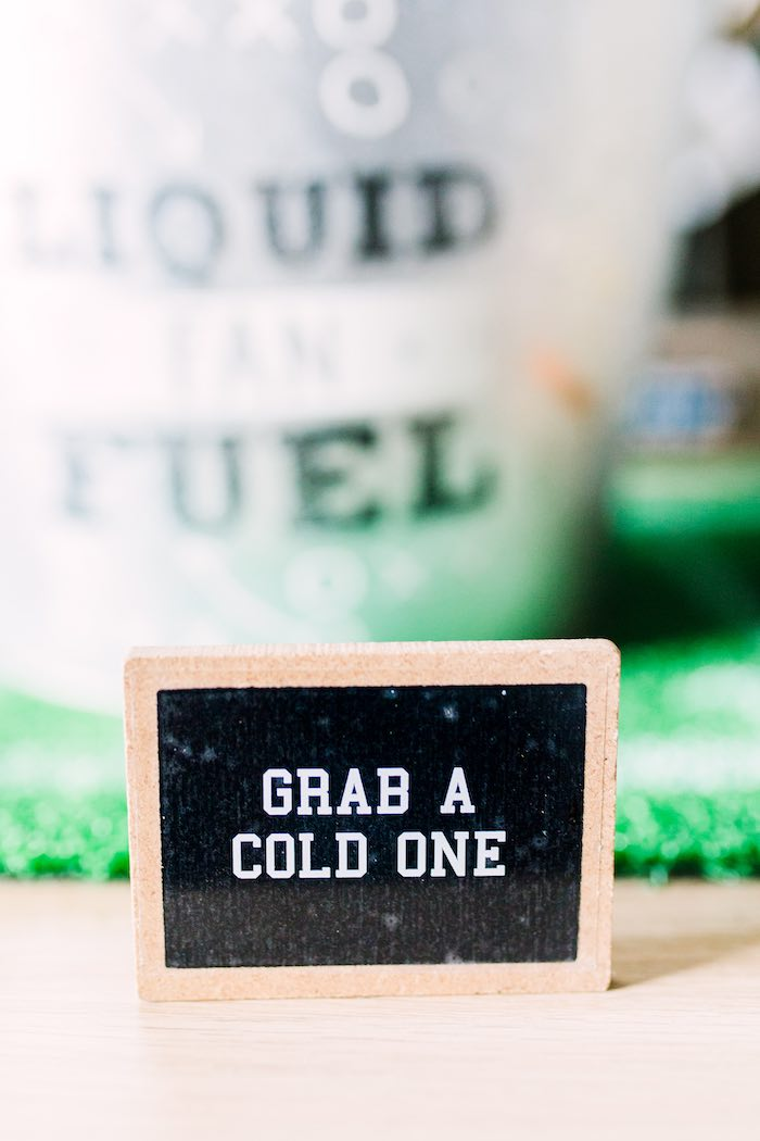 Chalkboard-inspired Signage from a Super Bowl Football Party on Kara's Party Ideas | KarasPartyIdeas.com (26)