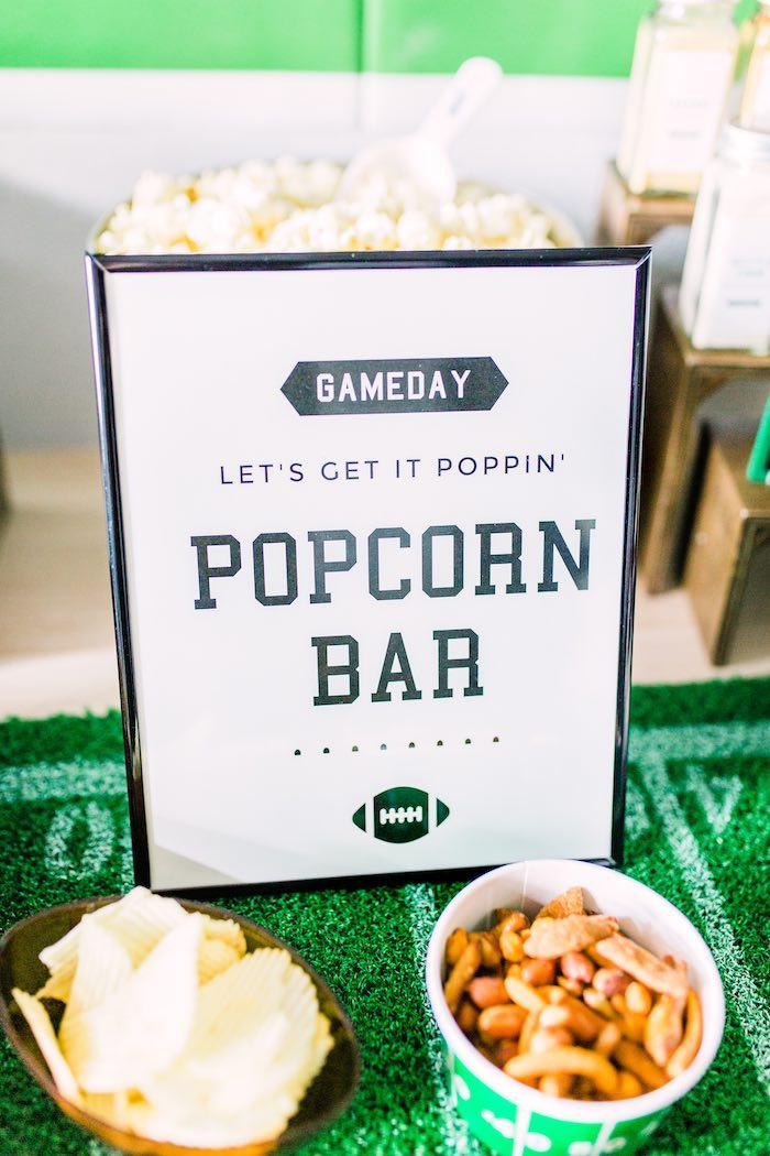 Popcorn Bar Signage from a Super Bowl Football Party on Kara's Party Ideas | KarasPartyIdeas.com (25)