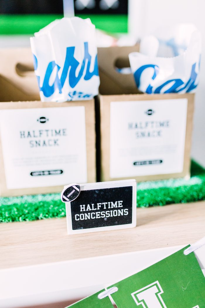 Halftime Concessions + Football Party Signage from a Super Bowl Football Party on Kara's Party Ideas | KarasPartyIdeas.com (24)