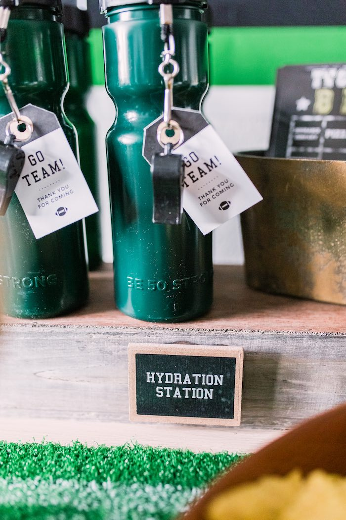 Hydration Station from a Super Bowl Football Party on Kara's Party Ideas | KarasPartyIdeas.com (22)