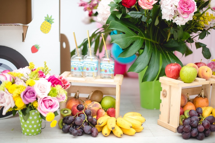 Crates of Fruit from a Tutti Frutti Food Truck Birthday Party on Kara's Party Ideas | KarasPartyIdeas.com (13)