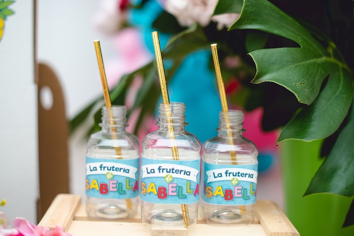 Drink Cups from a Tutti Frutti Food Truck Birthday Party on Kara's Party Ideas | KarasPartyIdeas.com (12)