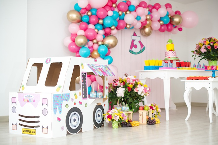 Tutti Frutti Food Truck Birthday Party on Kara's Party Ideas | KarasPartyIdeas.com (11)