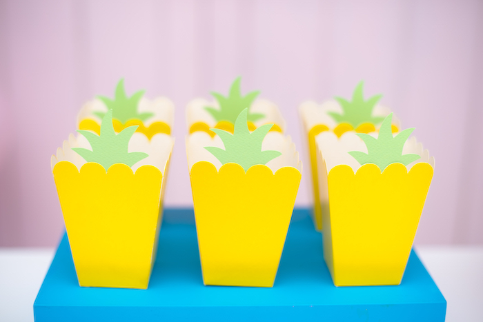 Pineapple Snack Boxes from a Tutti Frutti Food Truck Birthday Party on Kara's Party Ideas | KarasPartyIdeas.com (21)