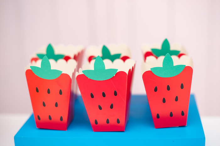 Strawberry Snack Boxes from a Tutti Frutti Food Truck Birthday Party on Kara's Party Ideas | KarasPartyIdeas.com (20)