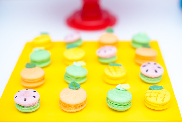 Fruit-inspired Macarons from a Tutti Frutti Food Truck Birthday Party on Kara's Party Ideas | KarasPartyIdeas.com (18)