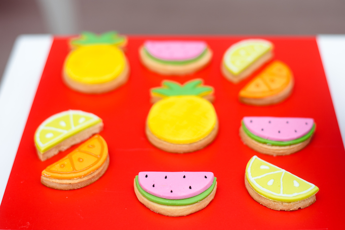 Fruit-inspired Sugar Cookies from a Tutti Frutti Food Truck Birthday Party on Kara's Party Ideas | KarasPartyIdeas.com (17)