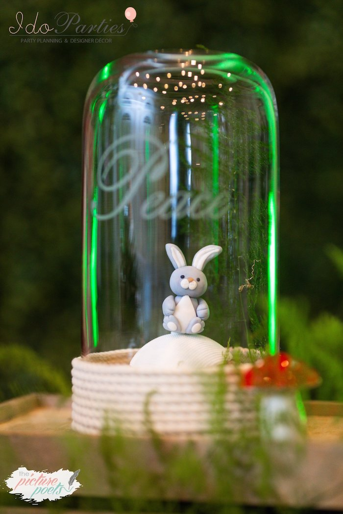 Bunny Cupcake from a Woodland Animal Birthday Party on Kara's Party Ideas | KarasPartyIdeas.com (25)