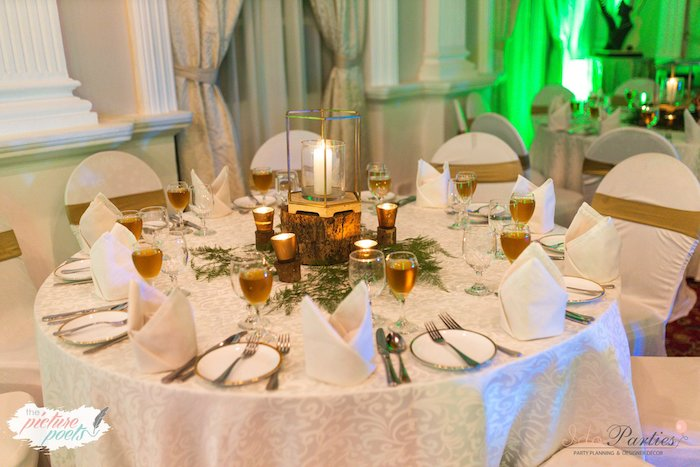 Woodland-inspired Guest Table from a Woodland Animal Birthday Party on Kara's Party Ideas   KarasPartyIdeas.com (23)