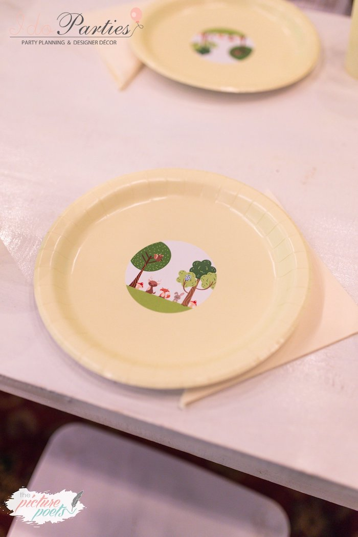 Woodland Forest Plate + Table Setting from a Woodland Animal Birthday Party on Kara's Party Ideas | KarasPartyIdeas.com (21)