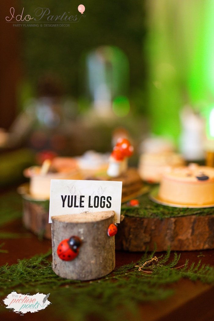 Tree Stump Dessert Label from a Woodland Animal Birthday Party on Kara's Party Ideas | KarasPartyIdeas.com (17)