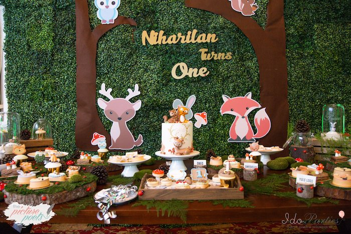 Woodland Animal Birthday Party on Kara's Party Ideas | KarasPartyIdeas.com (10)