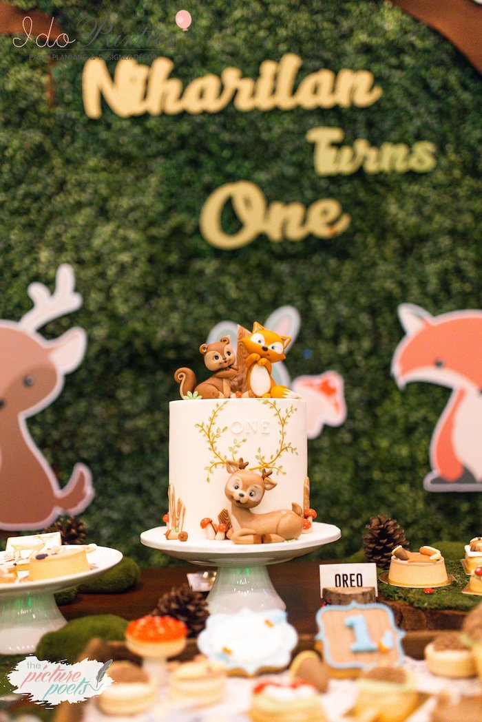 Woodland Animal Birthday Party on Kara's Party Ideas | KarasPartyIdeas.com (7)