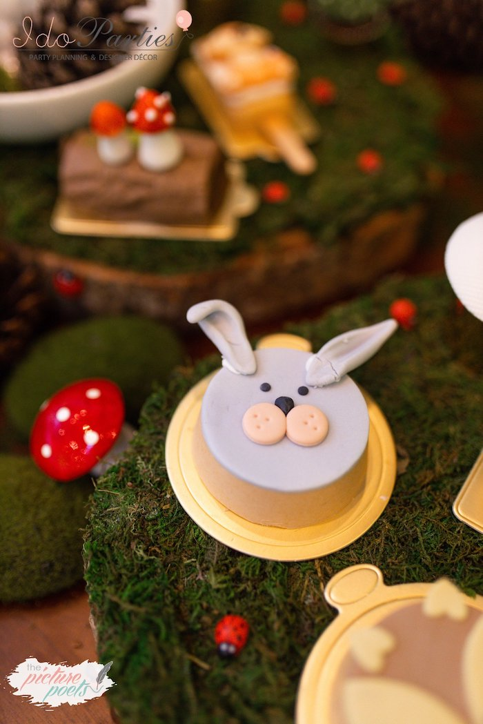 Bunny Rabbit Oreo from a Woodland Animal Birthday Party on Kara's Party Ideas | KarasPartyIdeas.com (4)