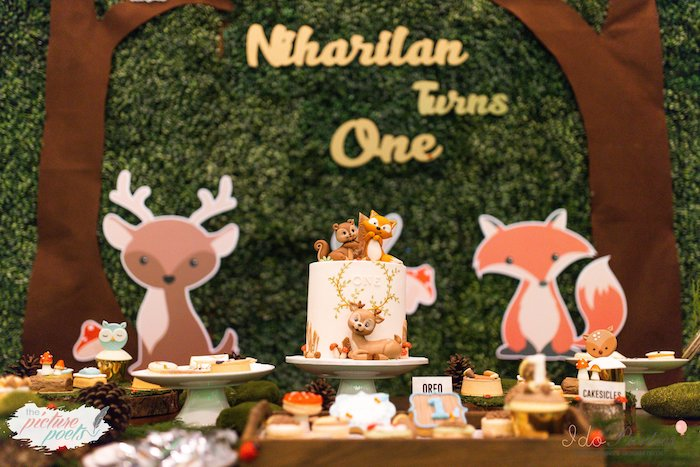 Woodland Animal Birthday Party on Kara's Party Ideas | KarasPartyIdeas.com (3)