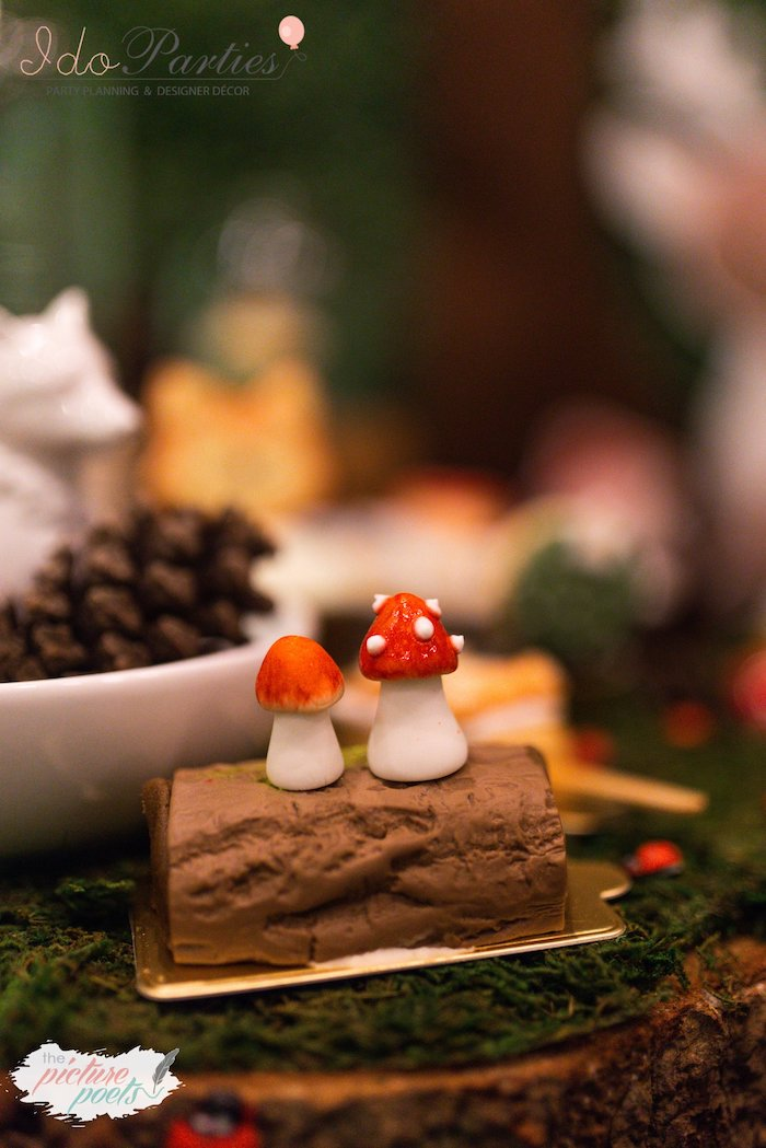 Mini Yule Log Cake from a Woodland Animal Birthday Party on Kara's Party Ideas | KarasPartyIdeas.com (34)