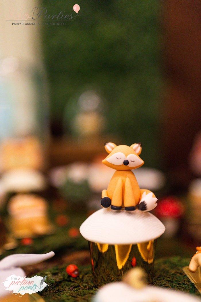 Fox Cupcake from a Woodland Animal Birthday Party on Kara's Party Ideas   KarasPartyIdeas.com (31)