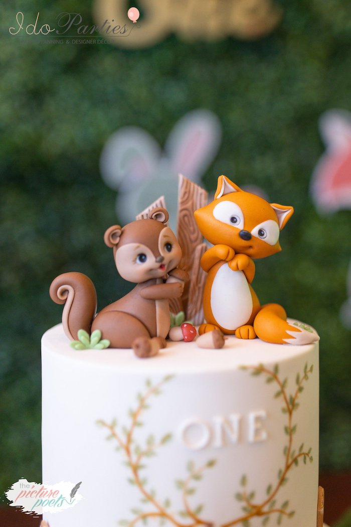 Woodland Animal Cake Topper from a Woodland Animal Birthday Party on Kara's Party Ideas | KarasPartyIdeas.com (30)