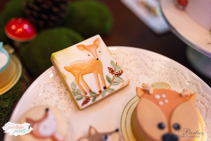 Hand-painted Deer Cookie from a Woodland Animal Birthday Party on Kara's Party Ideas | KarasPartyIdeas.com (29)