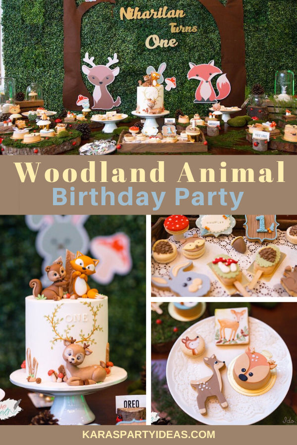 Woodland Animal Birthday Partyvia Kara's Party Ideas - KarasPartyIdeas.com