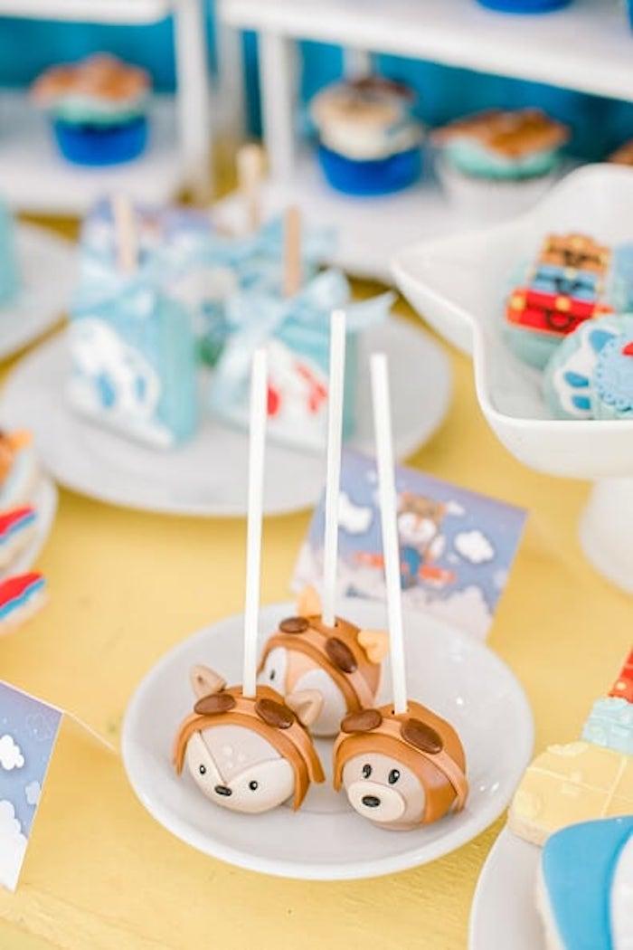 Woodland Aviator Animal Cake Pops from a Woodland Travel Birthday Party on Kara's Party Ideas | KarasPartyIdeas.com (13)