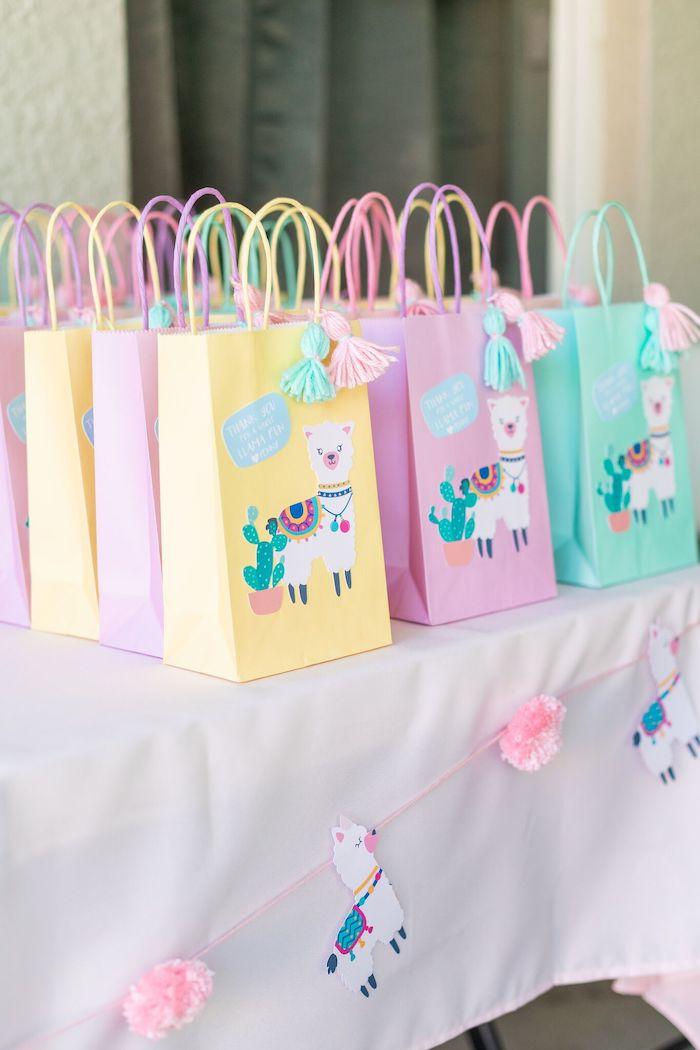 "Llama Favor Sacks from a ""Whole Llama Fun"" 1st Birthday Party on Kara's Party Ideas | KarasPartyIdeas.com (24)"