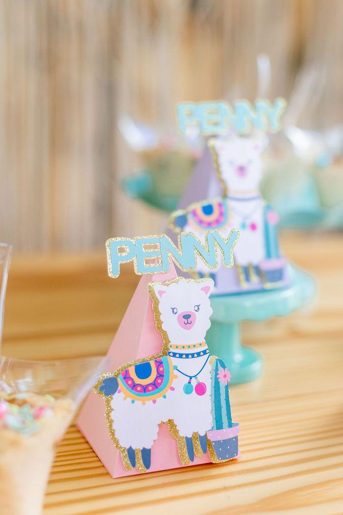 "Llama Favor Cone from a ""Whole Llama Fun"" 1st Birthday Party on Kara's Party Ideas | KarasPartyIdeas.com (23)"