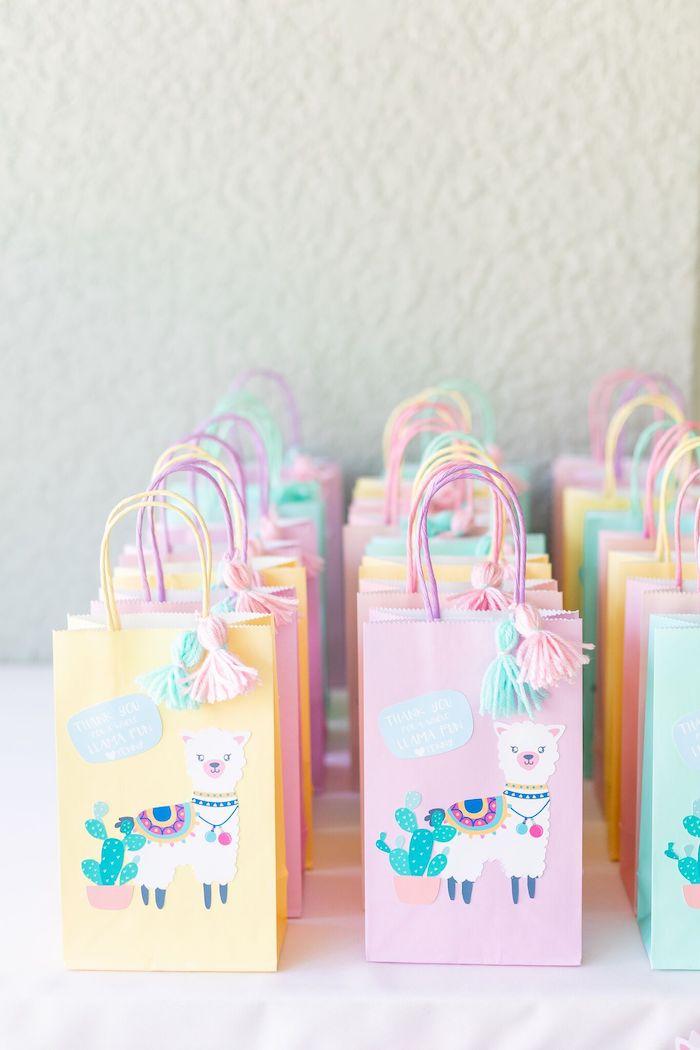 "Llama Favor Sacks from a ""Whole Llama Fun"" 1st Birthday Party on Kara's Party Ideas | KarasPartyIdeas.com (18)"