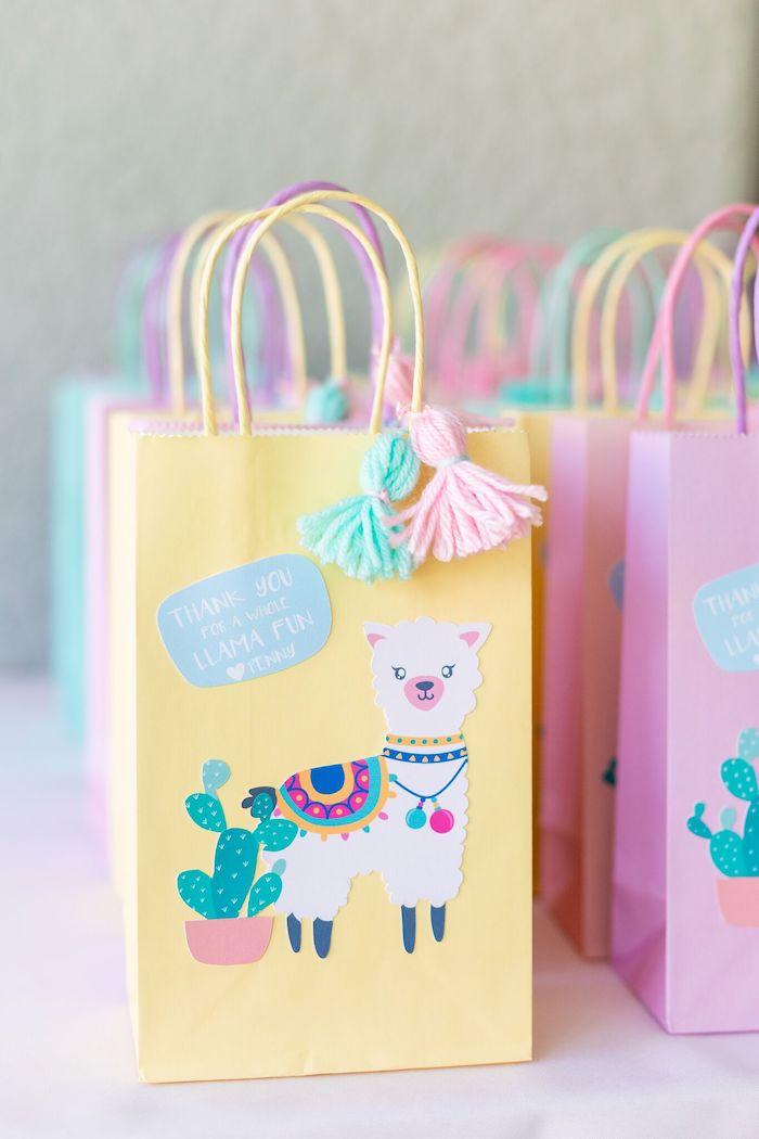 "Llama Favor Sacks from a ""Whole Llama Fun"" 1st Birthday Party on Kara's Party Ideas | KarasPartyIdeas.com (9)"