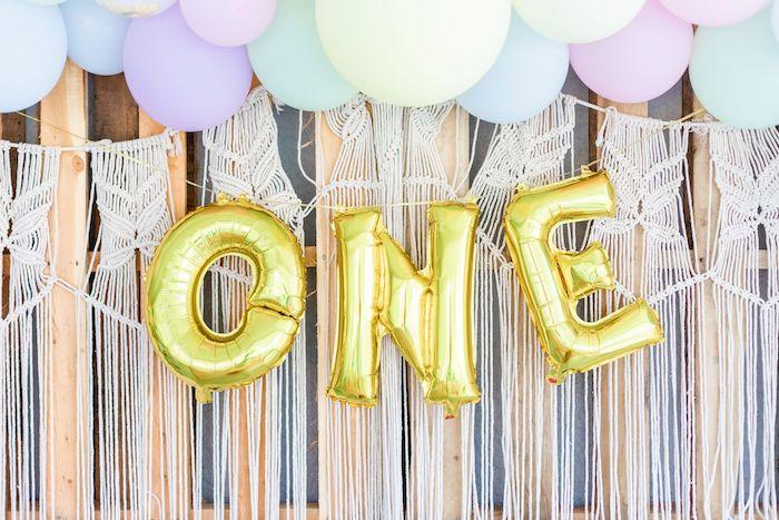 "Macrame Balloon Banner + Garland Backdrop from a ""Whole Llama Fun"" 1st Birthday Party on Kara's Party Ideas | KarasPartyIdeas.com (7)"