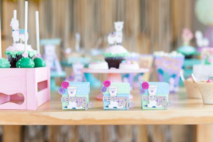 "Llama Favor Boxes from a ""Whole Llama Fun"" 1st Birthday Party on Kara's Party Ideas | KarasPartyIdeas.com (5)"