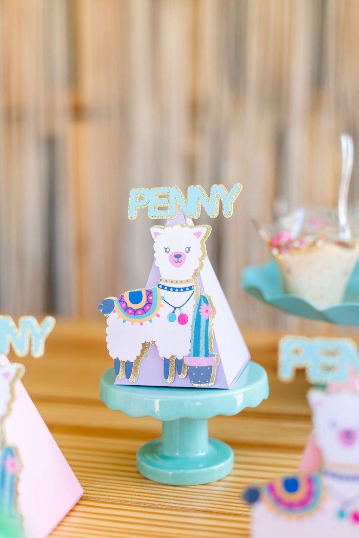 "Llama Favor Cone from a ""Whole Llama Fun"" 1st Birthday Party on Kara's Party Ideas | KarasPartyIdeas.com (4)"