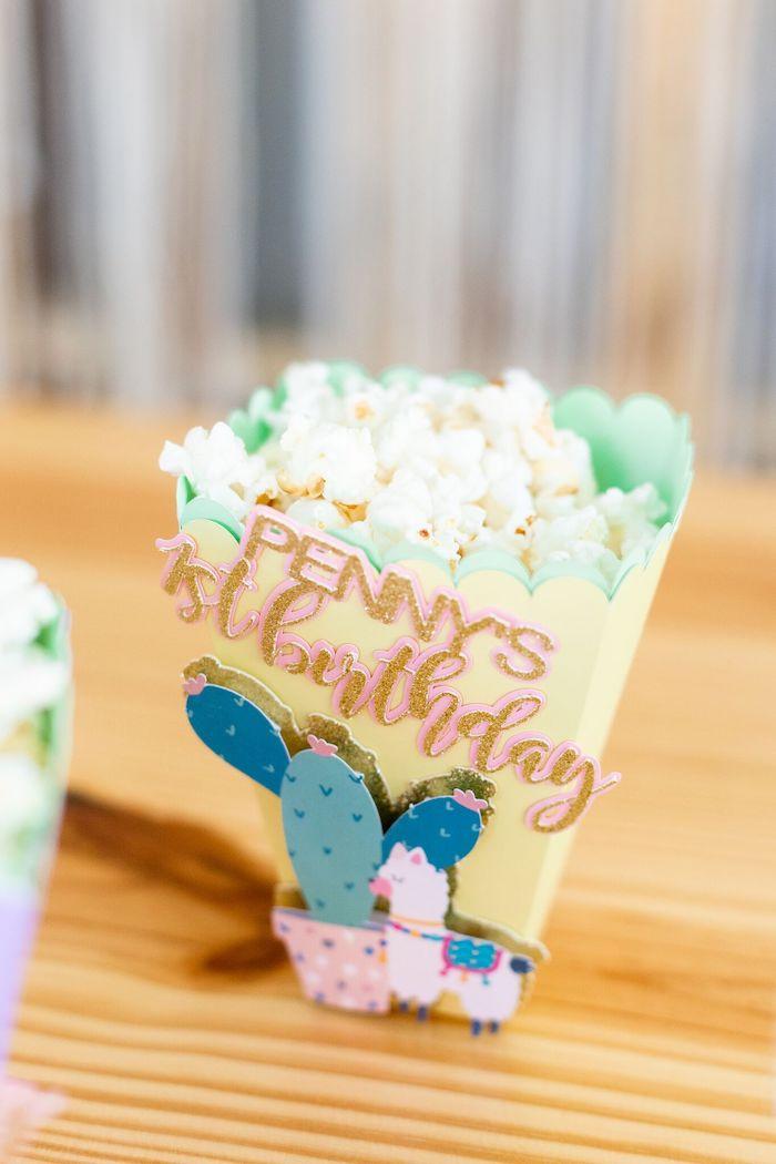 "Cactus & Llama Popcorn Box from a ""Whole Llama Fun"" 1st Birthday Party on Kara's Party Ideas | KarasPartyIdeas.com (29)"