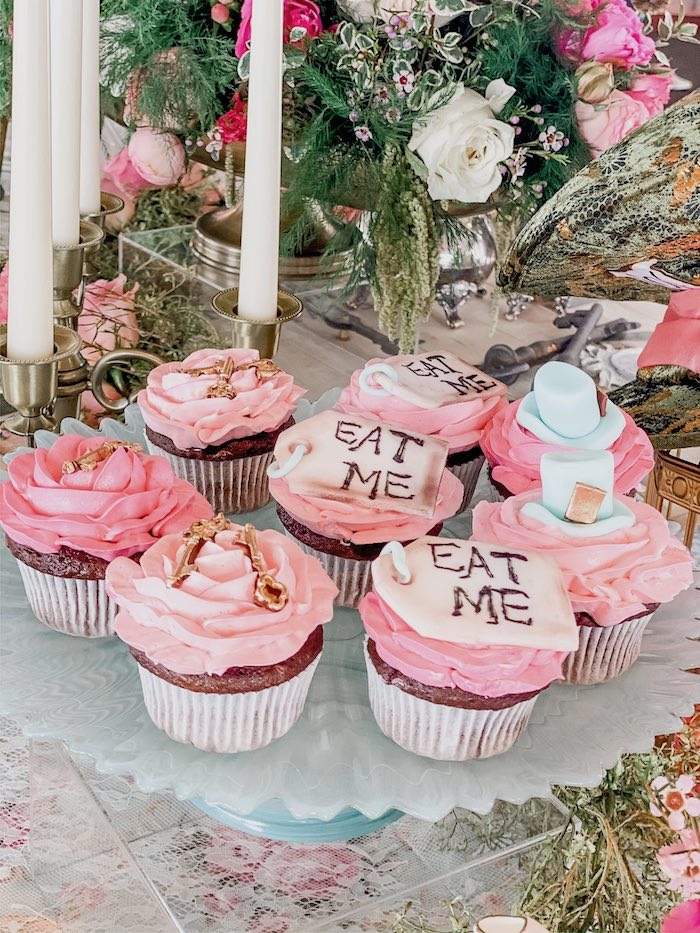 Alice in Wonderland Cupcakes from an Alice in Wonderland Tea Party on Kara's Party Ideas | KarasPartyIdeas.com (12)