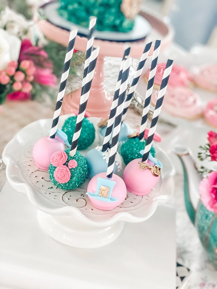 Alice in Wonderland Cake Pops from an Alice in Wonderland Tea Party on Kara's Party Ideas | KarasPartyIdeas.com (9)