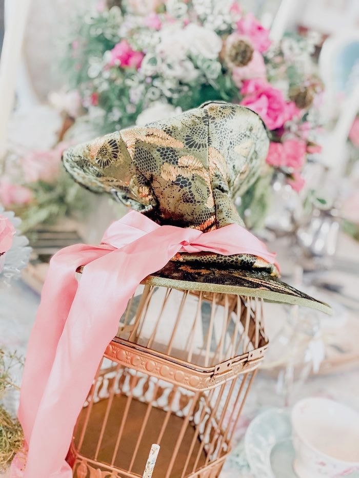 Girly Mad Hatter Hat from an Alice in Wonderland Tea Party on Kara's Party Ideas | KarasPartyIdeas.com (24)