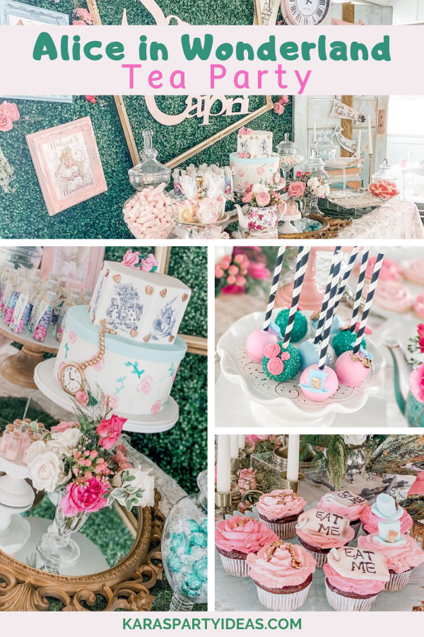 Alice in Wonderland Tea Party via Kara's Party Ideas - KarasPartyIdeas.com